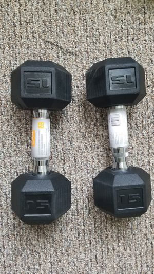 New pair of CAP 15 lbs hex dumbbells for Sale in Medford, MA
