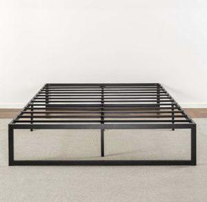 Metal Platform Bed Frame Queen Size Bedroom Furniture Black Steel for Sale in Plains, PA