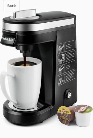CHULUX Single Serve Coffee Maker Brewer for Single Cup Capsule with 12 Ounce Reservoir,Black for Sale in Las Vegas, NV