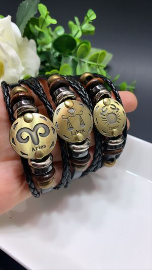 12 Constellations Multilayer Leather Bracelet, Each $8.99 for Sale in Irvine, CA