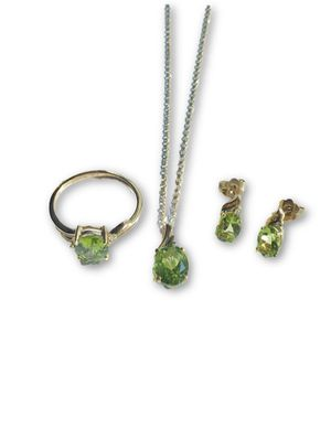 10k Peridot/Diamond set for Sale in Alexandria, VA