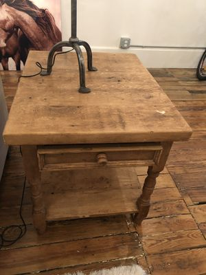 Wood end table for Sale in New York, NY