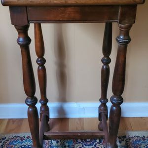 """Vintage Table Turned Leg 29"""" 1/2 Tall by 14"""" Top for Sale in Plainview, NY"""