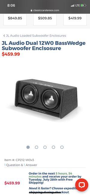 JL Audio 212 with 500 watt and 1200 watt amp for Sale in Louisa, VA