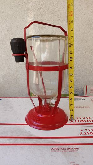 RELIABLE brand antique glass bottle kerosene dispenser. USA made Wellington Ohio. Vintage Oil lamp filler 1920s 1930s 1940s era devise for Sale in Orange, CA