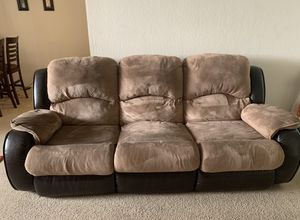 3 seater and 2 seater recliner couch for Sale in Sunnyvale, CA