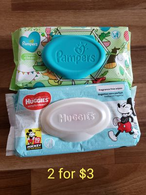 Huggies or Pampers wipes for Sale in Oregon City, OR