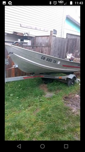 12Ft. GameFisher Aluminum Boat. I'm willing to trade it for a truck. for Sale in Newberg, OR