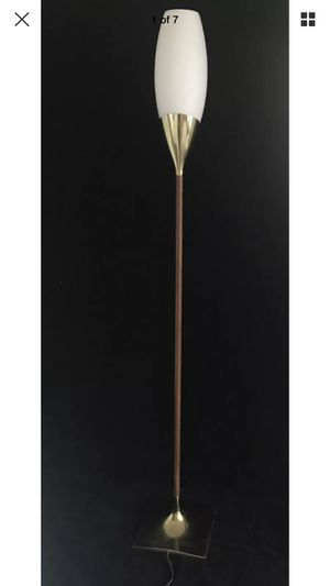 Vintage mid century modern frosted tulip glass torchbearer danish lamp LAUREL for Sale in Washington, DC