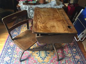 Antique child's school desk for Sale in Winthrop, MA