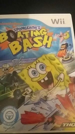 Nickelodeon SPONGEBOB'S BOATING BASH (Nintendo Wii + Wii U) for Sale in Lewisville, TX
