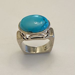 SILPADA RARE RETIRED Geometric Sterling Silver .925 Turquoise Ring Size 7.5 for Sale in Phoenix, AZ