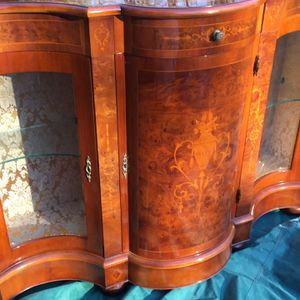 Vintage French Louis XV Marquetry Inlaid Buffet China Cabinet for Sale in Fairfax, VA