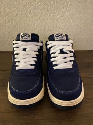 Nike Air Force 1 white & blue for Sale in San Leandro, CA