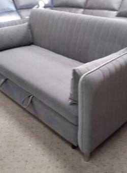 (New In Boxes) Gray Velvet Convertible Sofa Bed for Sale in Atlanta,  GA