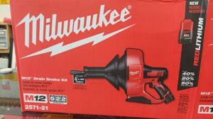 Milwaukee M12 Drain Snake Kit (New in Box, Box top was opened but tool was never removed) for Sale in Orange, CA