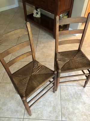 Antique rush seat chairs, will sell separately for Sale in Anaheim, CA