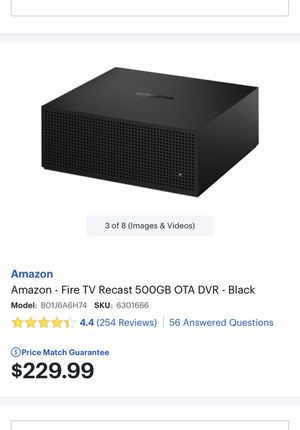 Amazon Fire TV Recast 500gb OTA DVR - Fire Stick for Sale in Federal Way, WA