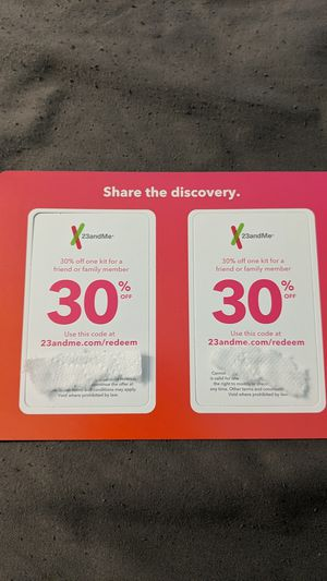 30% off discount codes for 23andme for Sale in Gorham, ME