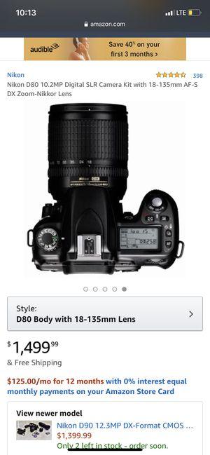 Nikon D80 for Sale in Haymarket, VA