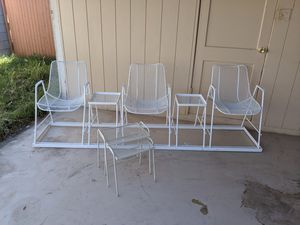 Woodard Sculptura Chairs with Side Tables for Sale in Phoenix, AZ