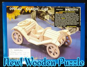 New! Classic Car Wooden Puzzle for Sale in Romeoville, IL