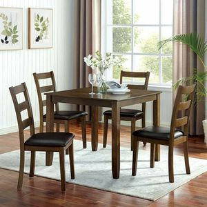 5 PIECE KITCHEN DINING TABLE SET WALNUT / DARK BROWN FINISH for Sale in Rancho Cucamonga, CA
