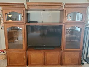 Oak Finished Entertainment Center for Sale in Thompson's Station, TN