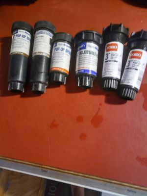 6 assorted new sprinkler heads 2 3 and 4 in for Sale in St. Petersburg, FL