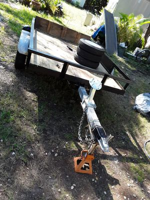 Tilting utility trailer new everything 5' x 8' for Sale in Fort Myers, FL