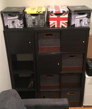 Kallax dark wood shelves shelf drawers storage book cases for Sale in Concord, CA