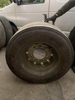 Rim and Tire for semi truck for Sale in Auburn, WA
