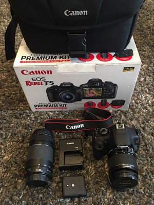 Canon Rebel T5 Premium Kit for Sale in Daly City, CA