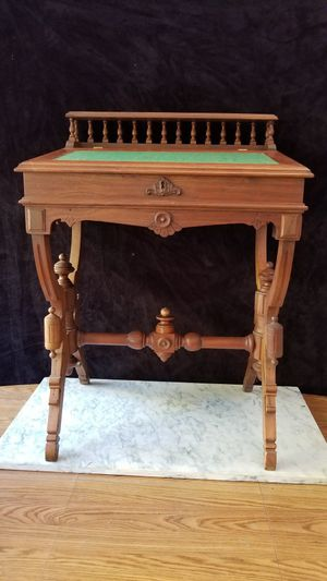Antique Eastlake Style Sea Captain's Desk for Sale in Denver, CO