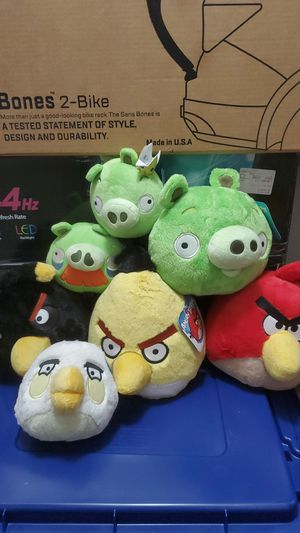 Angry bird plushies for Sale in Ramona, CA