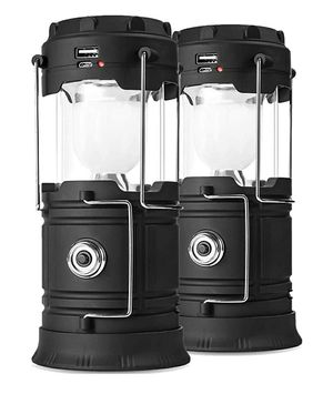 2 Pack Solar Phone Charging Lanterns, USB Rechargeable for Sale in Glendale, AZ