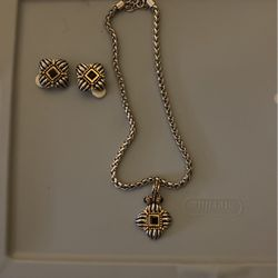 Neclace And Earring Set (not For Pierced Ears ) for Sale in Merrimack,  NH