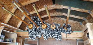 Brown Jordan Blue/White Patio Umbrellas $50 each for Sale in Detroit, MI