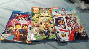 Paw patrol movies and The Lego Movie for Sale in Philadelphia, PA