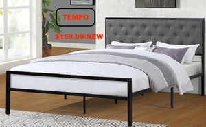 Full Metal Bed Frame, Grey for Sale in Huntington Beach, CA
