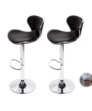 Corliving Set of 2 adjustable leather bar stools for Sale in Germantown, MD