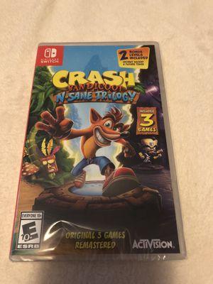 Brand new Nintendo Switch Crash bandicoot for Sale in San Jose, CA