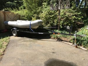2000 Avon RIB w/15hp 4 stroke outboard motor for Sale in Seattle, WA