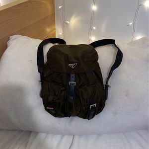Prada Army Green Nylon Small Backpack for Sale in Oakland, CA
