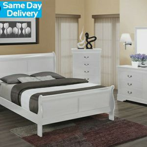 💥👌İn Stock🚀[HOT DEAL] Louis Philip White Sleigh Bedroom Set by Crown Mark for Sale in Washington, DC