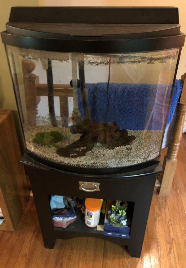 26 gallon aquarium fish tank w/stand