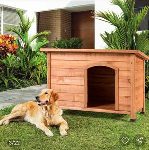 Wooden XLarge Weather Resistant Dog House for Sale in Downey, CA