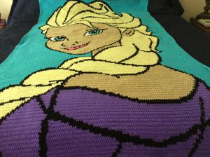 Elsa Frozen Afghan for Sale in Bowie, MD