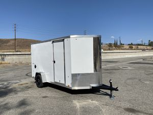 New 6x12 Enclosed Look Trailer * 6 inches extra height * for Sale in Redlands, CA