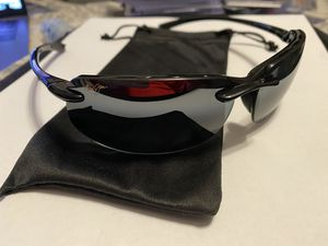 MAUI JIM 412-02 BANYANS GRY GLS BLACK POLARIZED NEW for Sale in Chicago, IL